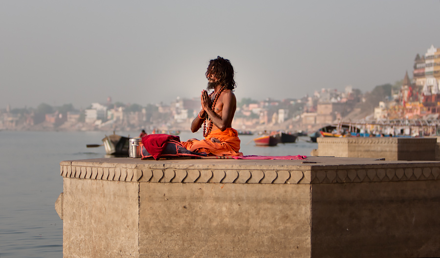 Local yogis in Varanasi