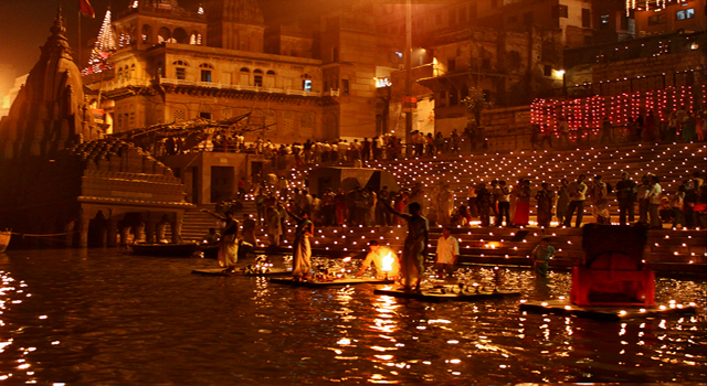 Diwali celebration in Varanasi