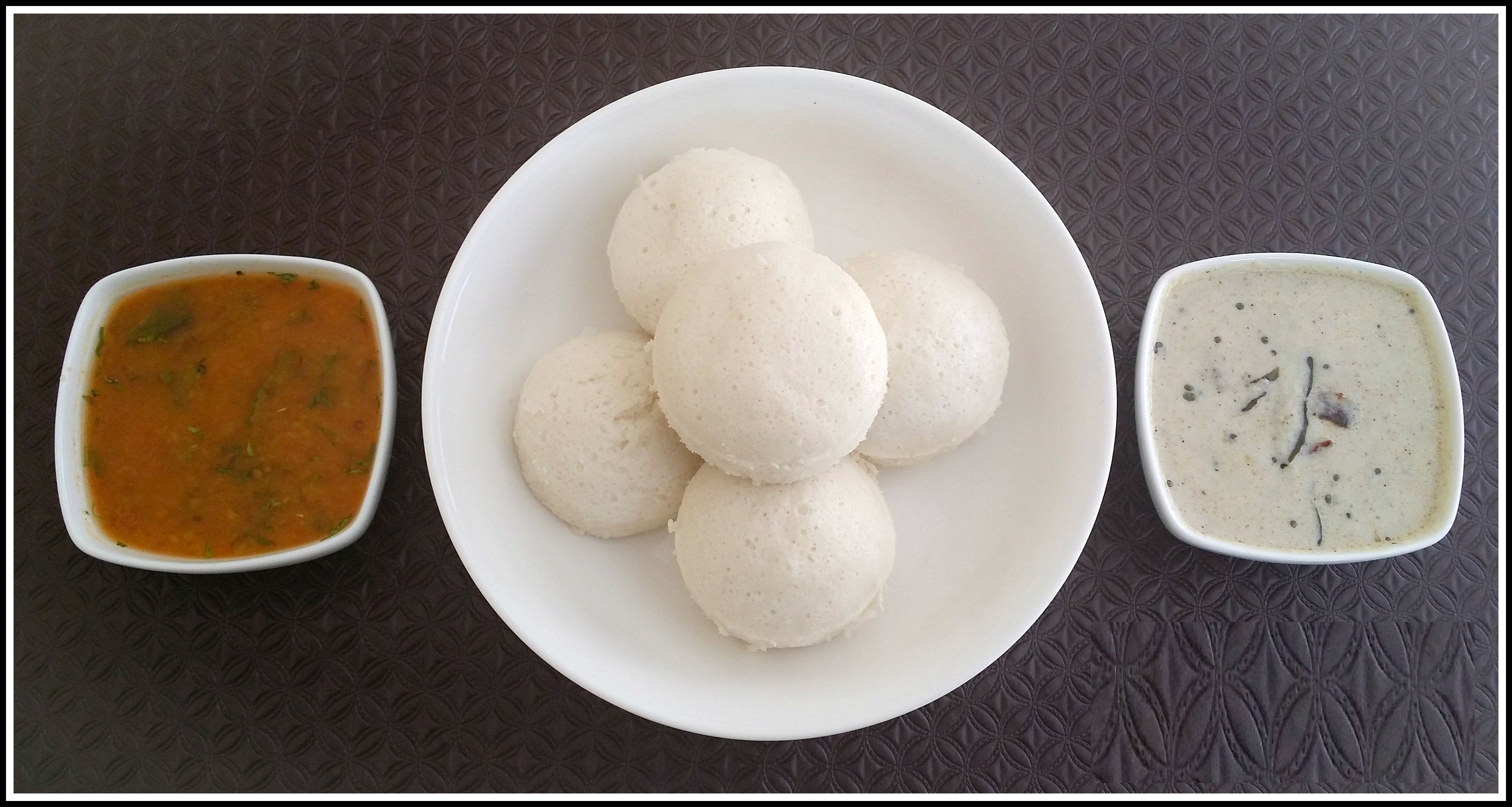 Idli with Mangalorean Curry