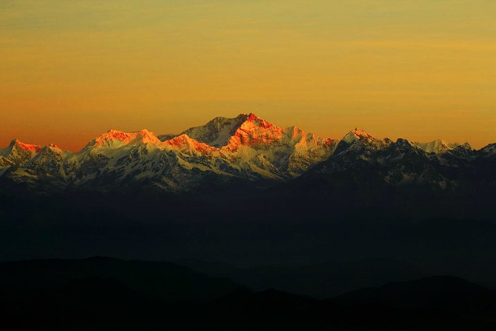 Sunrise at Khangchendzonga