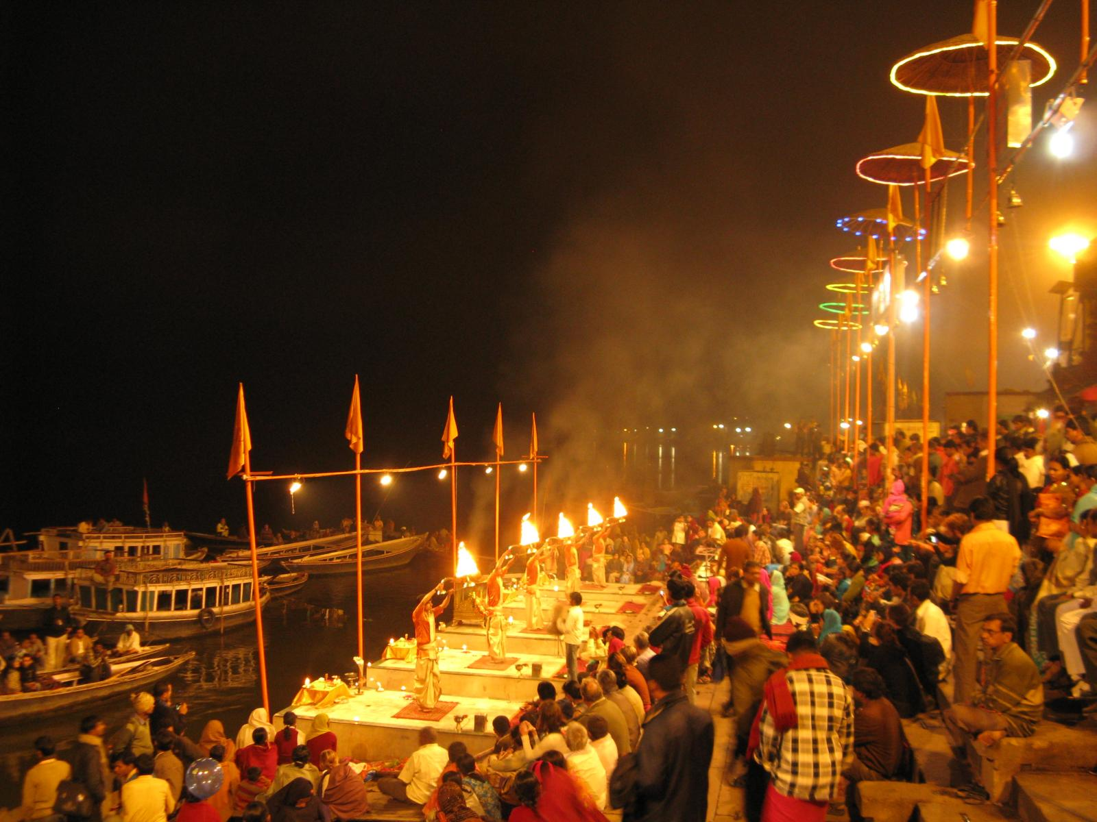 Ganga Aarti Ceremony In Varanasi
