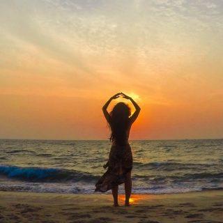 Marari-beach-sunset view