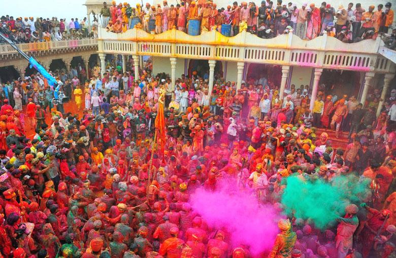 Holi Festival in Vrinadavan