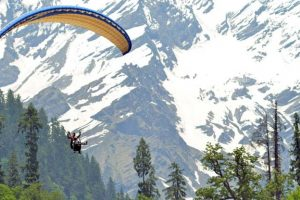 Paragliding at Solang Valley