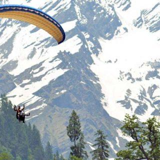 Paragliding at Solang Valley