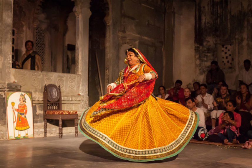 The Cultural show at Bagore ki Haveli