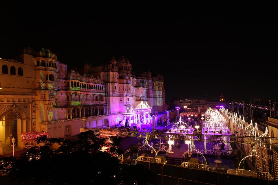 Light & Sound show at Udaipur City Palace