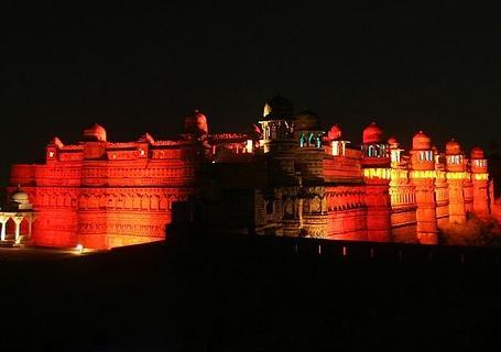 Light and sound show in Gwalior