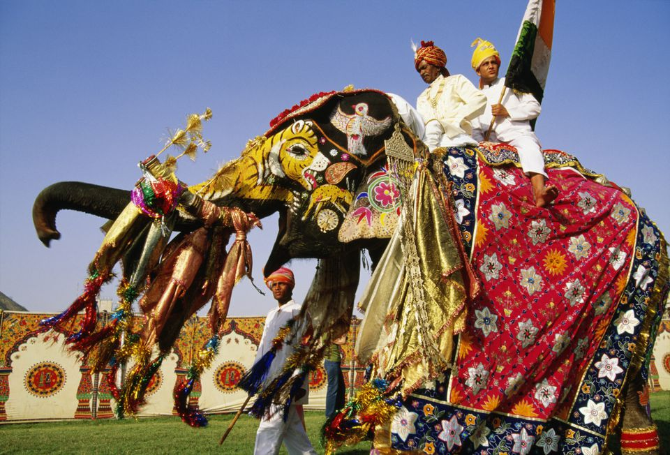 Elephants in festivals in india