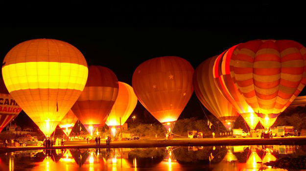 Hot air balloon safari in Pushkar