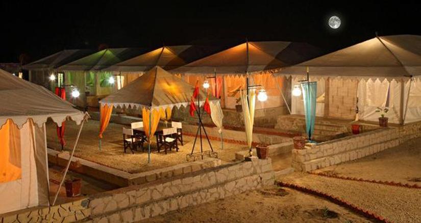 Night camping in Jaisalmer
