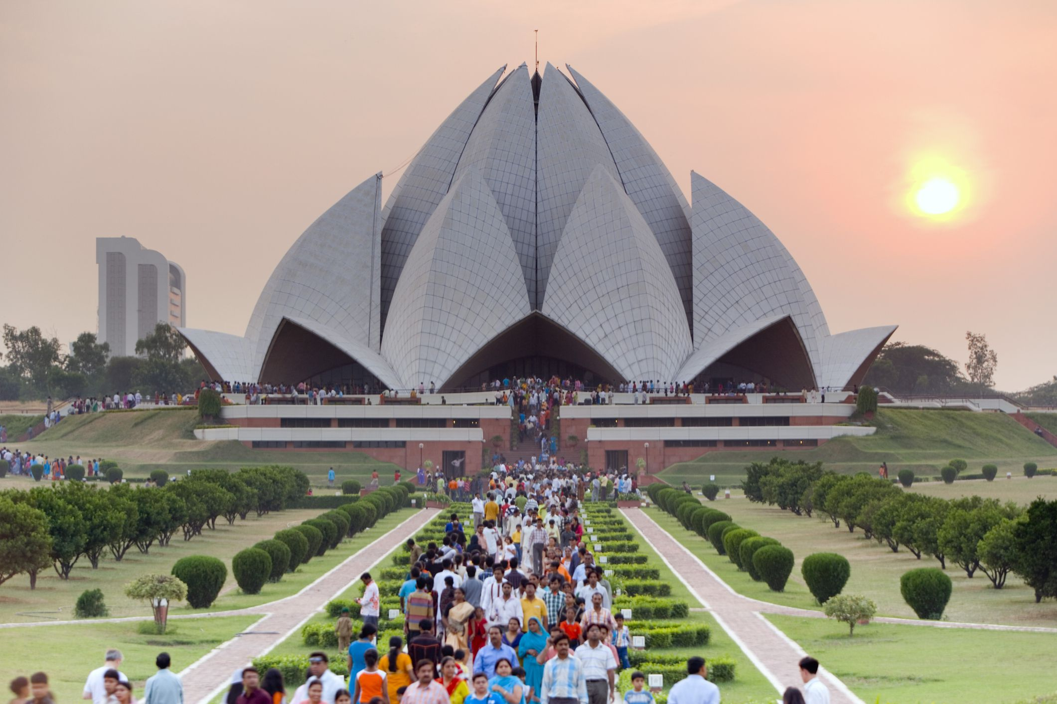 image of lotus temple in delhi