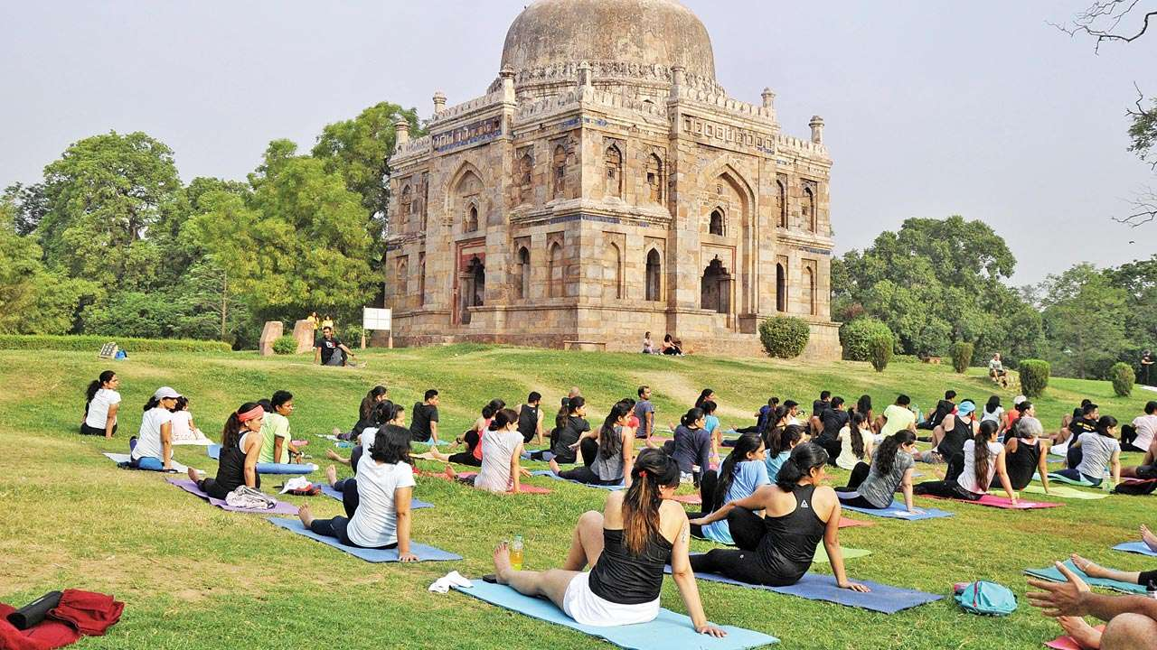 Yoga at Lodhi Garden