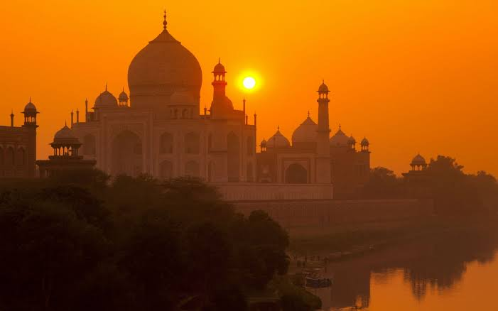 Sunset at Tajmahal