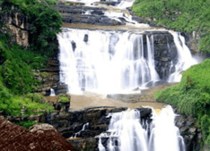Saint Clair's Waterfall in Sri Lanka