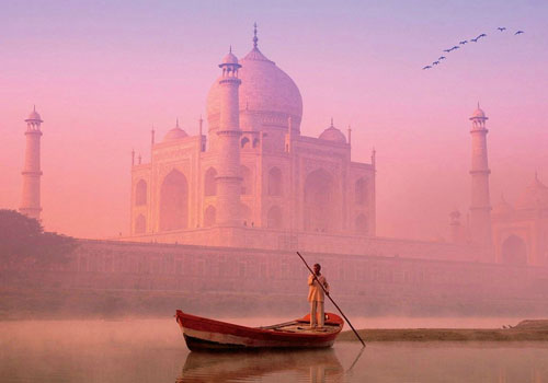 Taj Mahal View from Yamuna River