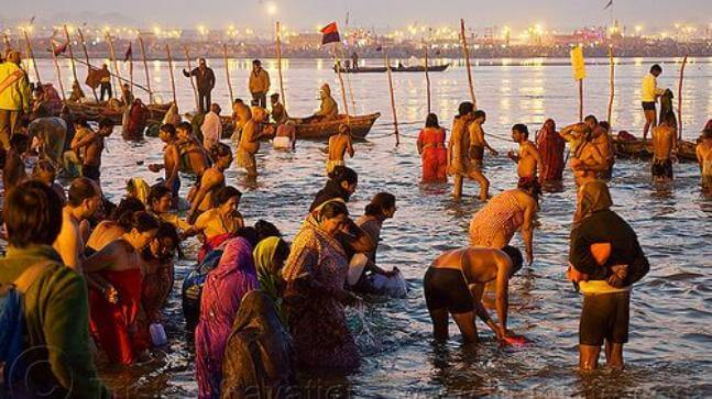Take Bath in the River Ganges