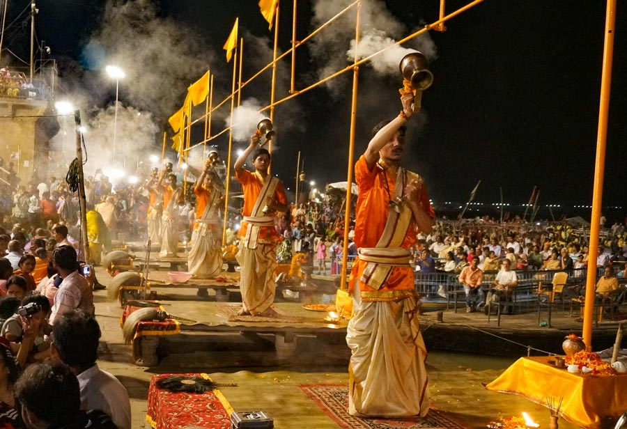 Ganga Aarti Ceremony in India